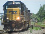 CSX 8540 with lights on